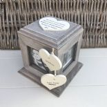 Shabby Chic PERSONALISED Rustic Wood Auntie Aunty Aunt Gift ANY NAME Photo Cube - 253968780033